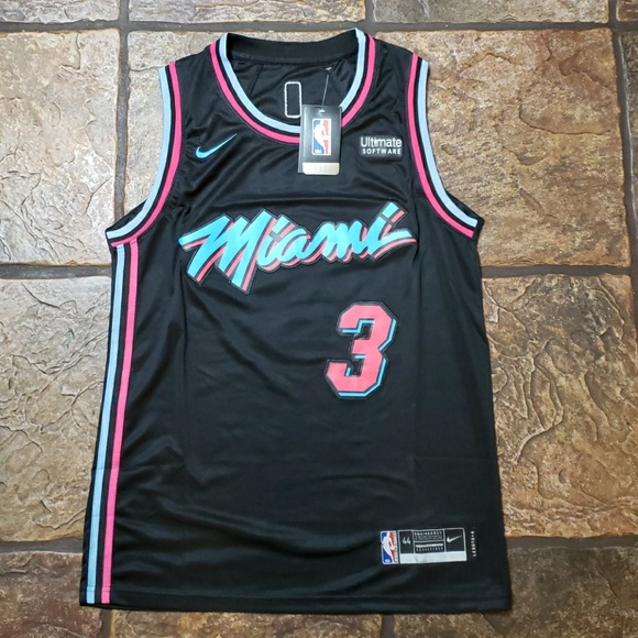 promo code f85f0 0002a Dwyane Wade - Black Miami Vice Jersey NWT